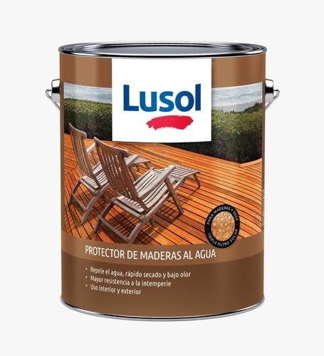 Imagen 1 de 1 de Protector De Madera Al Agua Lusol Color Natural
