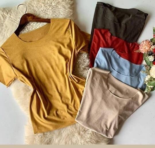Kit Com 6 Blusinhas Sued T-shirts Lançamento + Frete Grátis