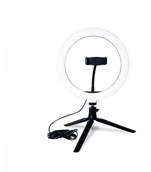 Led Ring Light Studio Photo Video Lâmpada Ajustável TriPod
