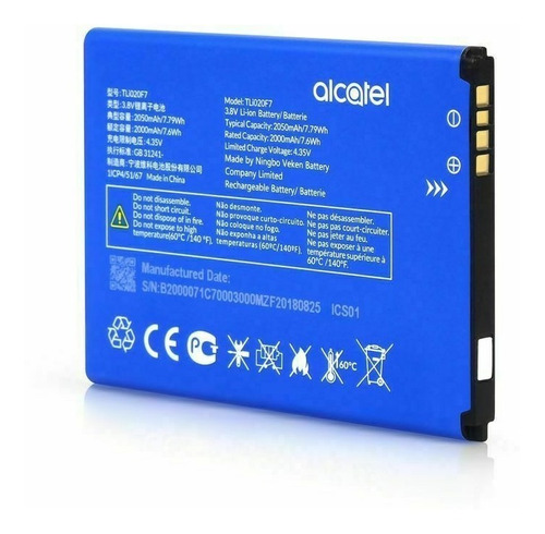 Bateria Alcatel Tetra 5044r 5044 5041c 5041 Pixi 4 Tli020f7