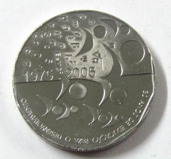 Moneda Cabo Verde 2005 200 Escudos 30 Aniv De Independencia