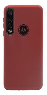Funda Motorola G8 Plus Tpu Duo Proteccion Rojo