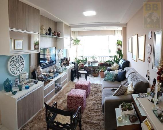 Apartamento Para Venda Em Natal, Pitimbu, 3 Dormitórios, 1 Suíte, 3 Banheiros, 2 Vagas - Natal Brisa 3q