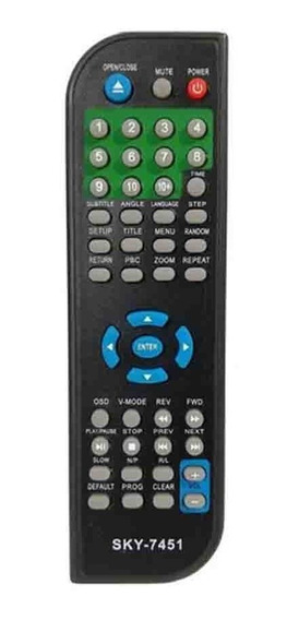 Cr-2868 Controle Remoto P/ Dvd Eterny Sky7451
