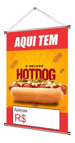 Banner Pronto Para Cachorro Quente / Hot Dog