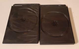 Caja Para Dvd Doble Slim X5 Más Regalo.