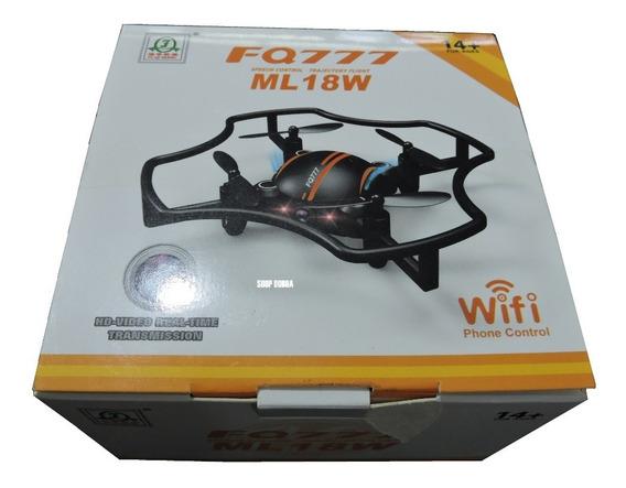 Mini Drone Ml18w Visualiza Ao Vivo Estabilizador Novo
