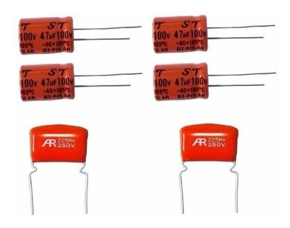 Kit 6 Capacitor Para 4 Driver + 2 Tweeter Universal