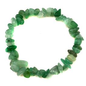 Pulseira Cascalho Pedra Cristal Natural Quartzo Verde 370