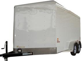 Remolque Caja Seca De Aluminio 3 Ton Rampa Trasera Y Puerta