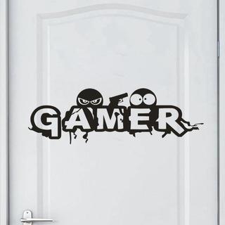 Gamer - Adhesivo Decorativo Para Pared (extraíble), Diseño D