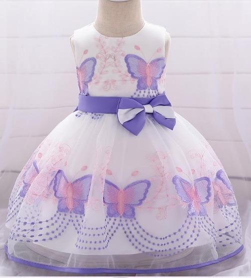 Vestido Infantil Para Meninas De Até 24 Meses.