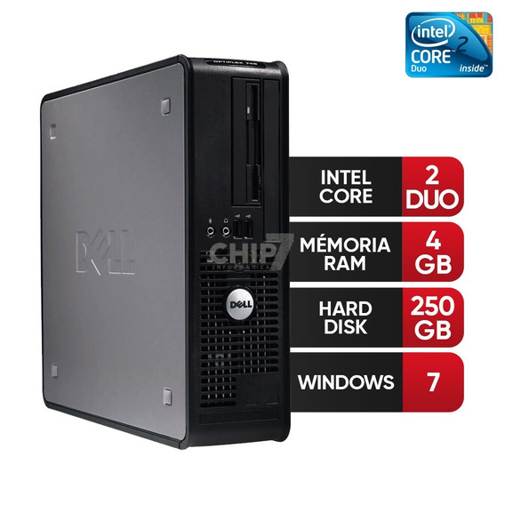Desktop Dell Optiplex Core 2 Duo, 4gb Ddr3, Hd 250gb