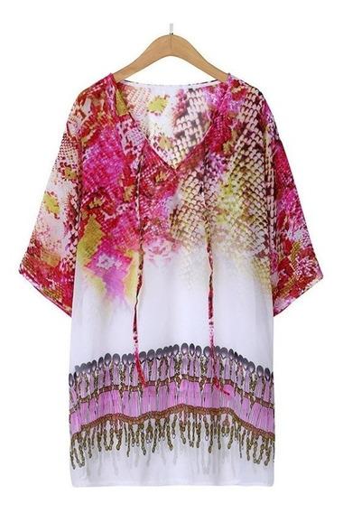Vestido De Playa Estampado Print