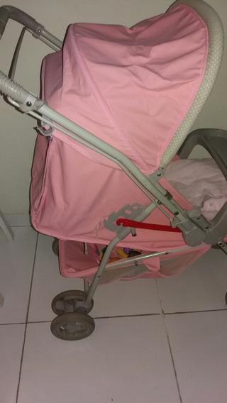 Vendo Uma Carrinho De Bebê Usado Marca Galzerano Rosa