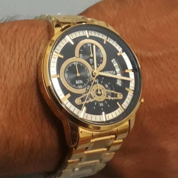 Relógio Nibosi Vidro Handles Original