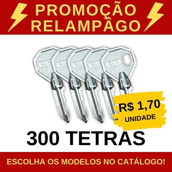 Kit De 300 Chaves Tetras Virgens - Rca