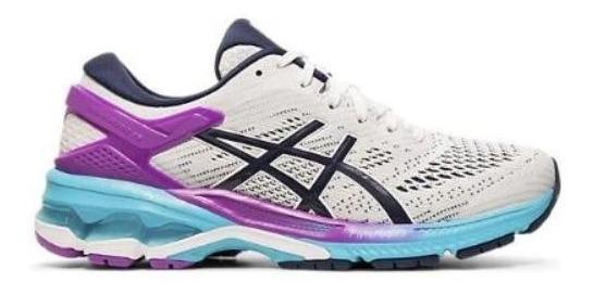 Zapatillas Asics Gel Kayano 26 Mujer Running Blanco