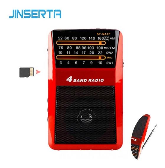 Rádio Portátil Merenda Sy-na17 Am//fm/sw Suporte Cartão Tf