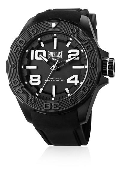 Relógio Pulso Everlast Masculino Silicone Preto E617
