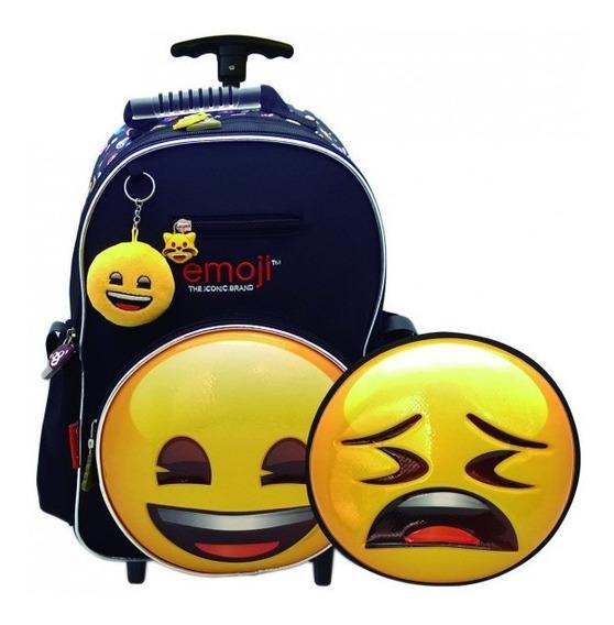 Mochila Con Rueditas Emoji- Cresko