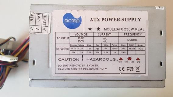 Fonte Atx Pctop 2030w Model Atx-230w Usada Barulho Ref: N64