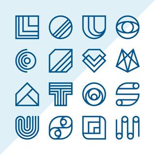 16 Diseños De Logos Minimalistas Plantillas En Vectores 01
