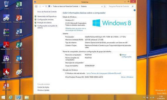 Notebook Positivo Z85 No Estado Funciona Com Pequenos Defeitos