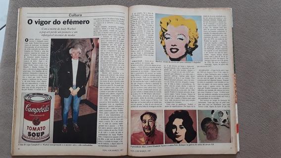 Revista Veja Luiz Caldas São Paulo Careca Andy Warhol 1987