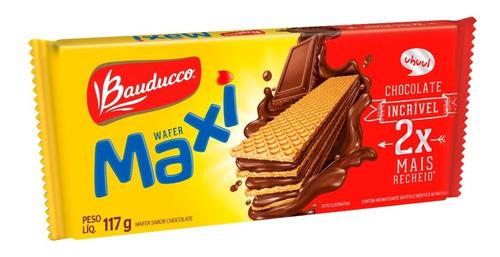 Bolacha Wafer Maxi De Chocolate Bauducco 117g