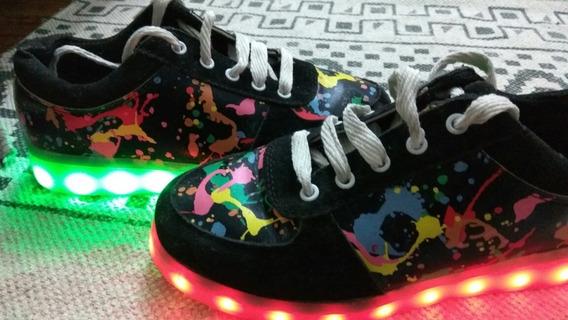 Zapatillas Con Luces De Varios Colores Y Efectos