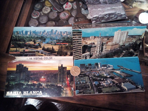 Bahia Blanca Set De 7 Postales Color