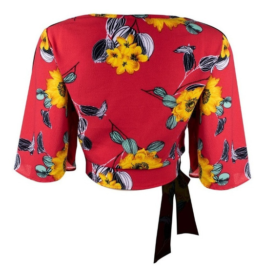 Blusa Kimono Floral