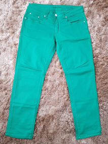Calça Calvin Klein Brim Verde 40 Original