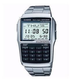 Relógio Casio Dbc-32d Aço Data Bank 25 Memória