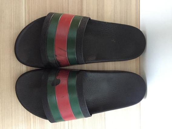 Sandalia Chinelo Slider Gucci