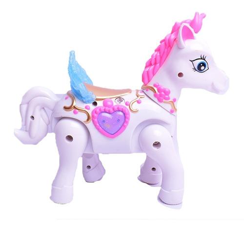 Imagen 1 de 10 de Mi Poni Alado Unicornio Con Movimiento Y Luz El Duende Azul