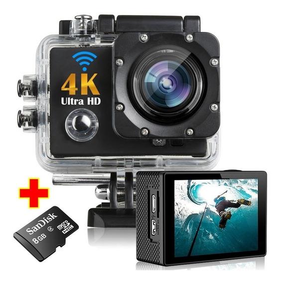 Câmera Esporte Full Hd 4k 16mp Com Wifi + Cartão Micro Sd 8g