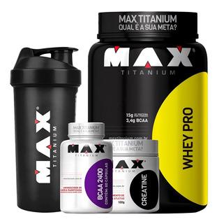 Kit Massa Magra Whey Protein + Bcaa + Creatina + Coq