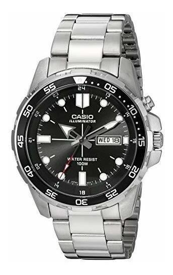 Casio Mtd-1079d Reloj Plateado Cuarzo Hombre - Envio Gratis