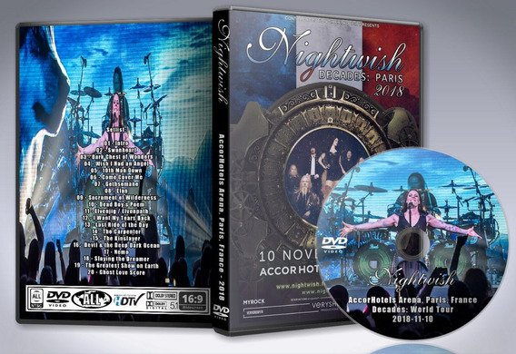 Dvd Nightwish - Accorhotels Arena, Paris, France 2018