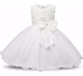 Lindo Vestido Branco - Bebê - Batizado - Casamento - Festas