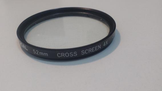 Lente Filtro 52mm - Cross Screen 4x - Seminova