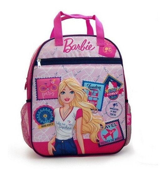 Mochila Barbie 16 PuLG Original Con Relieve Y Manijas