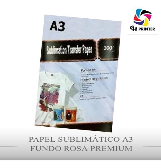 Papel Sublimático Fundo Rosa A3 500folhas Mecolour