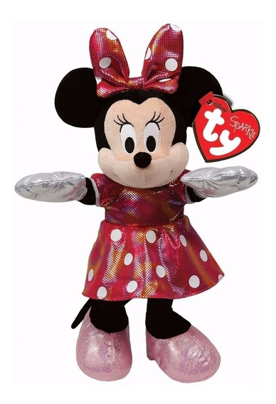 Urso Pelúcia Minnie Mouse Mickey Ty Original Disney