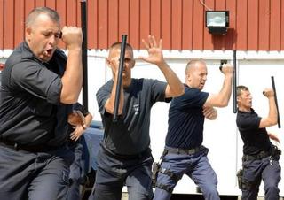 Tonfa Táctica Barato Defensa Personal Bastón Antidisturbios