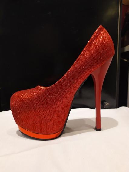 Zapatos Dama Fiesta Aguja De 16 Cm Talle 37