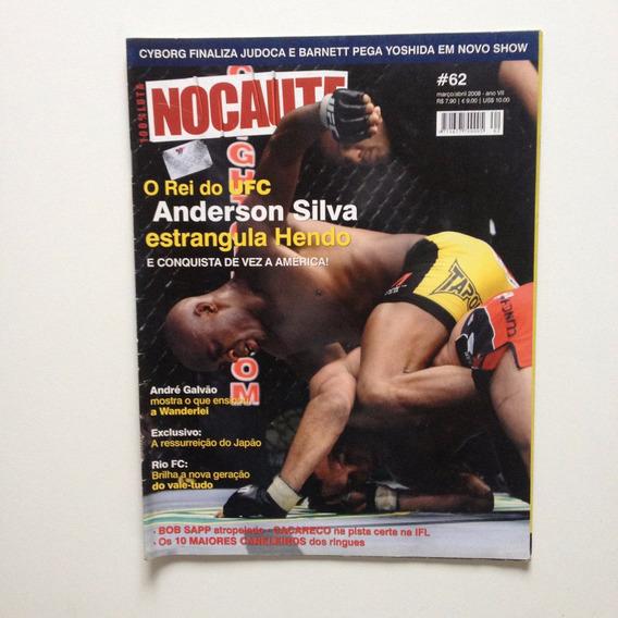 Revista Gracie Nocaute 62 Anderson Silva O Rei Do Ufc A501