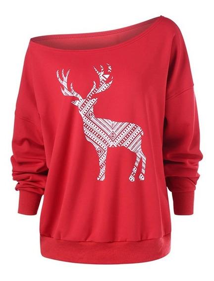 Suéter Navidad Grande Tamaño Murciélago Abrigo De Manga C